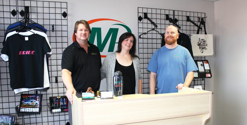 Meet the team of Minuteman Press in London North, Ontario, Canada - from left to right: Gerry McQuillan, owner; Maggie McQuillan, owner; and Jason Cooke, designer. http://www.minutemanpressfranchise.ca