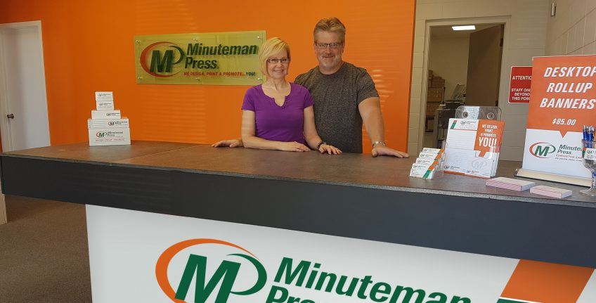 Alison Jack-Ray and Brad Ray, Minuteman Press franchise owners, Edmonton East, Alberta, Canada. http://www.minutemanpressfranchise.ca